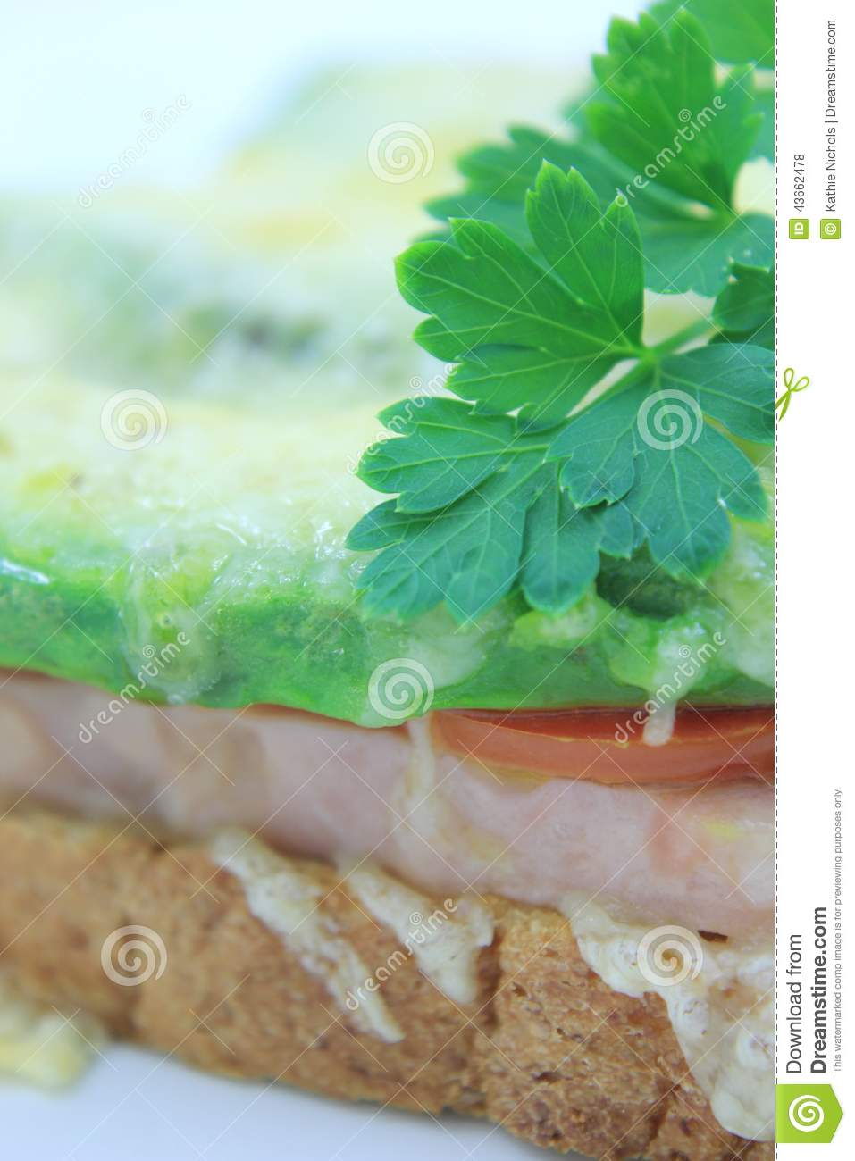 Grilled Ham Cheese Tomato And Avocado On Toast 3 Stock Photo - Image ...