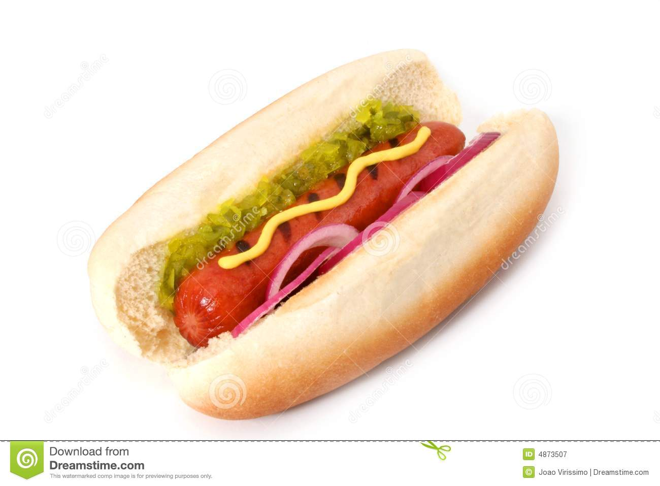Grilled Hot Dog Royalty Free Stock Photography - Image ...