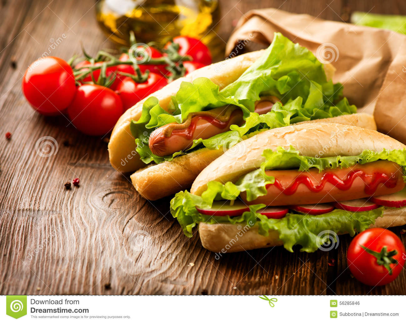 Hot Dogs With Sesame Seeds