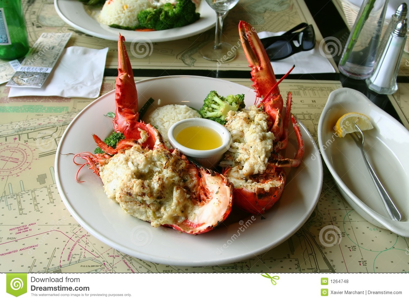 Grilled Lobster Royalty Free Stock Photos - Image: 1264748