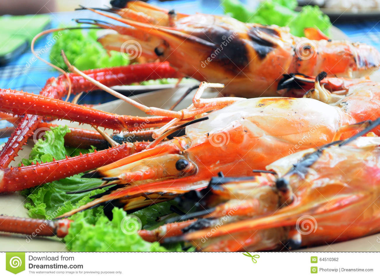 Grilled Lobster Stock Photo - Image: 64510362