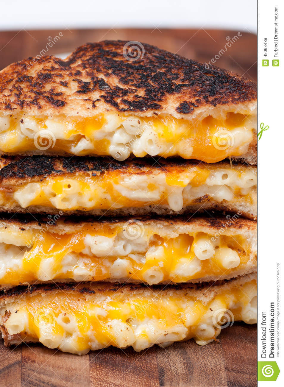 Grilled Macaroni And Cheese Sandwich Stock Photo - Image ...