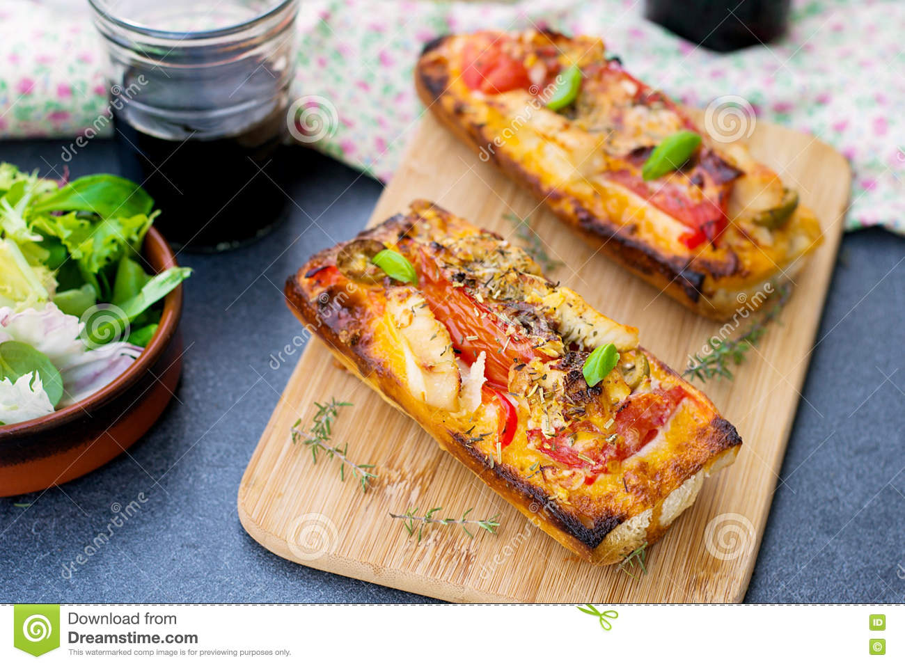 Cheese Chicken Faced Grilled Open Sandwich
