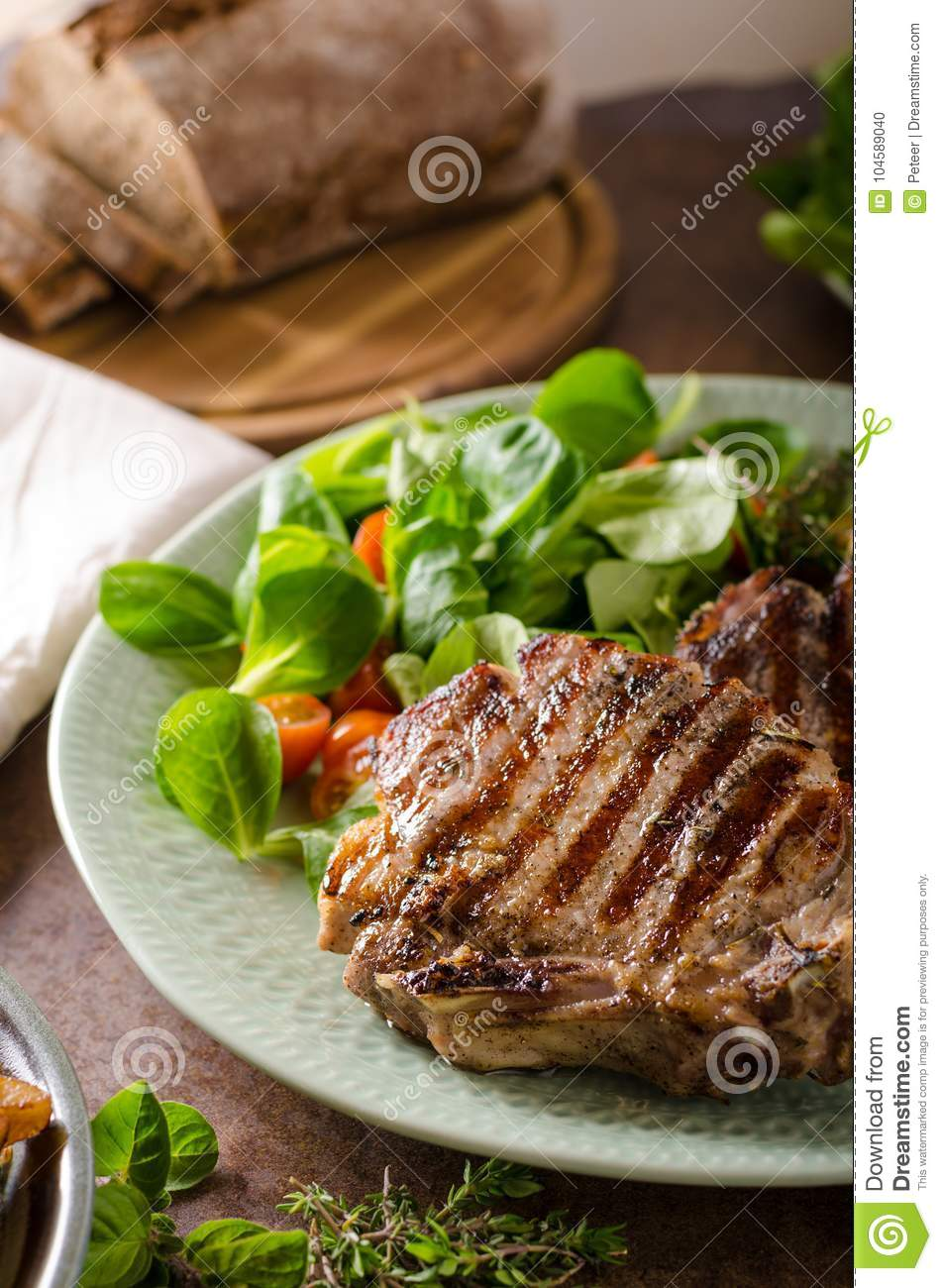 Grilled pork chops