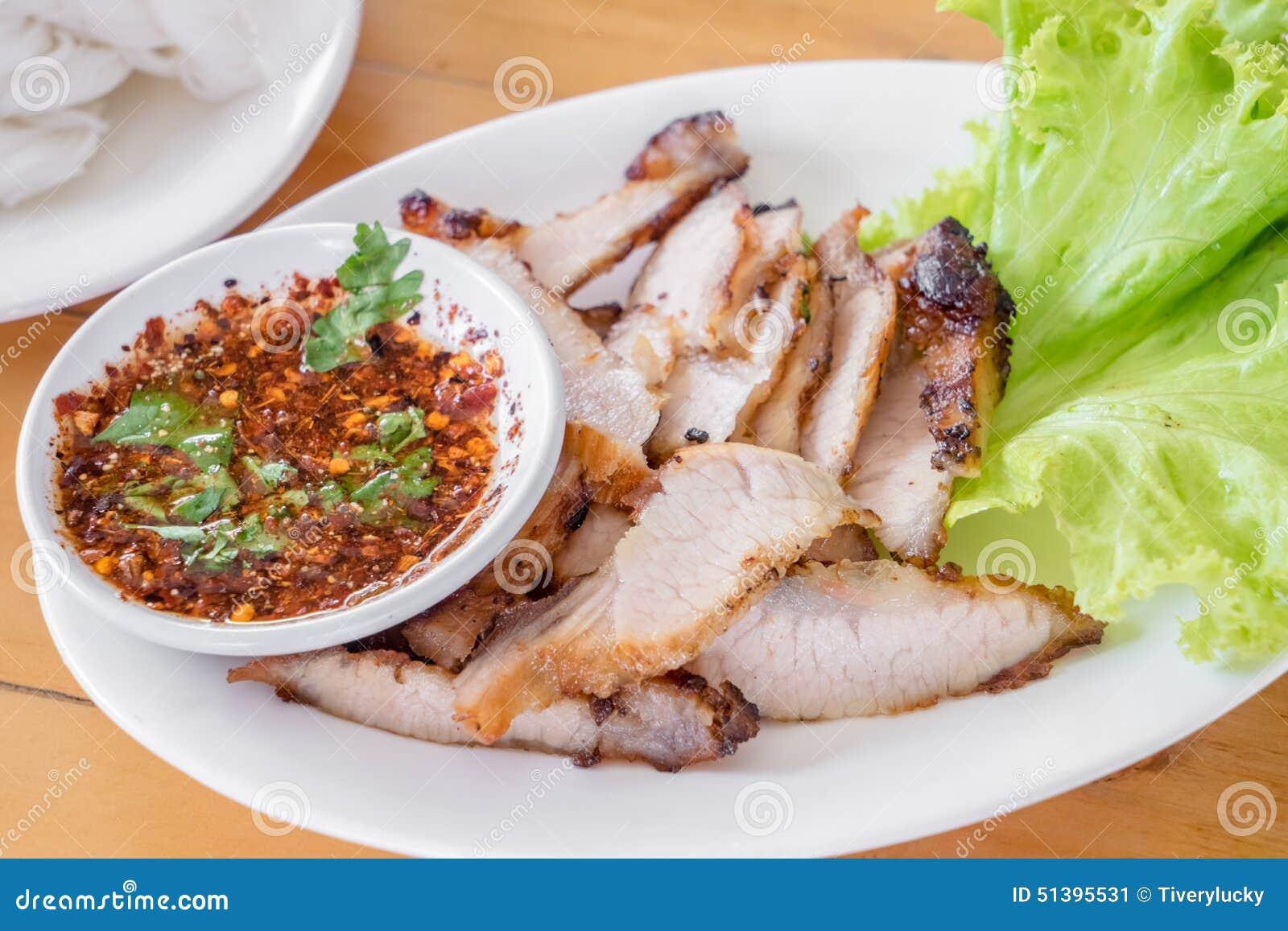 pork neck pork neck grill pork thai chargrilled pork neck with grilled ...