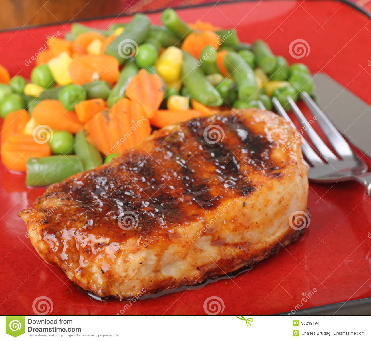 Pork Tenderloin Meal: Pork Tenderloin Stock Photo. Image Of Meat, Pork, Dinner