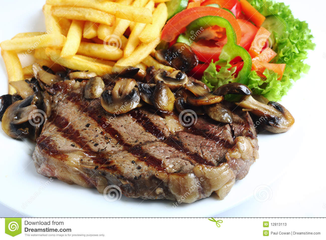 Grilled Ribeye Steak Dinner Stock Image - Image: 12813113 | 1300 x 957 jpeg 186kB