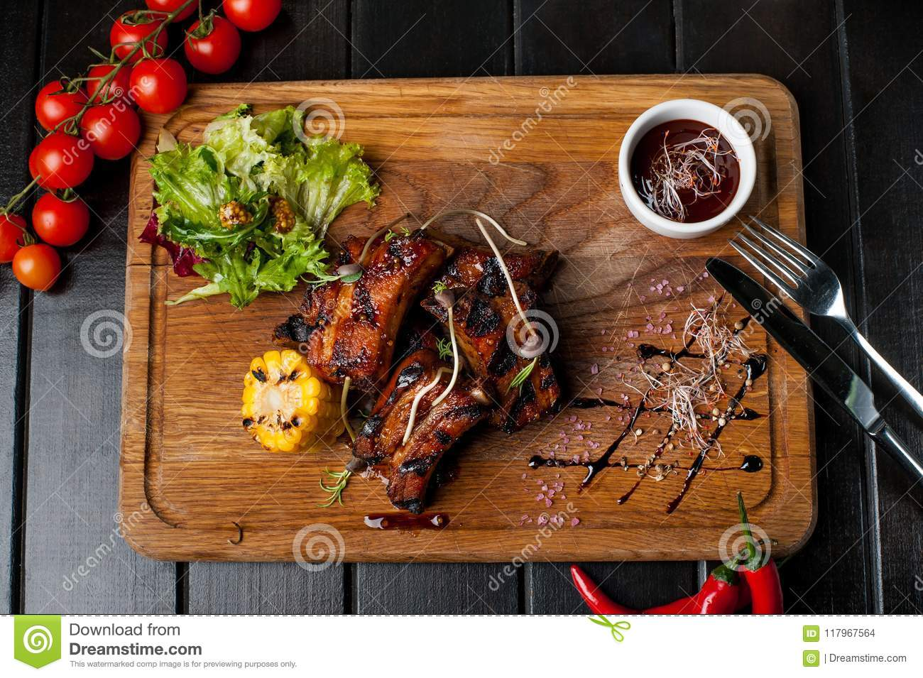 Barbecued Ribs with Rosemary Corn advise