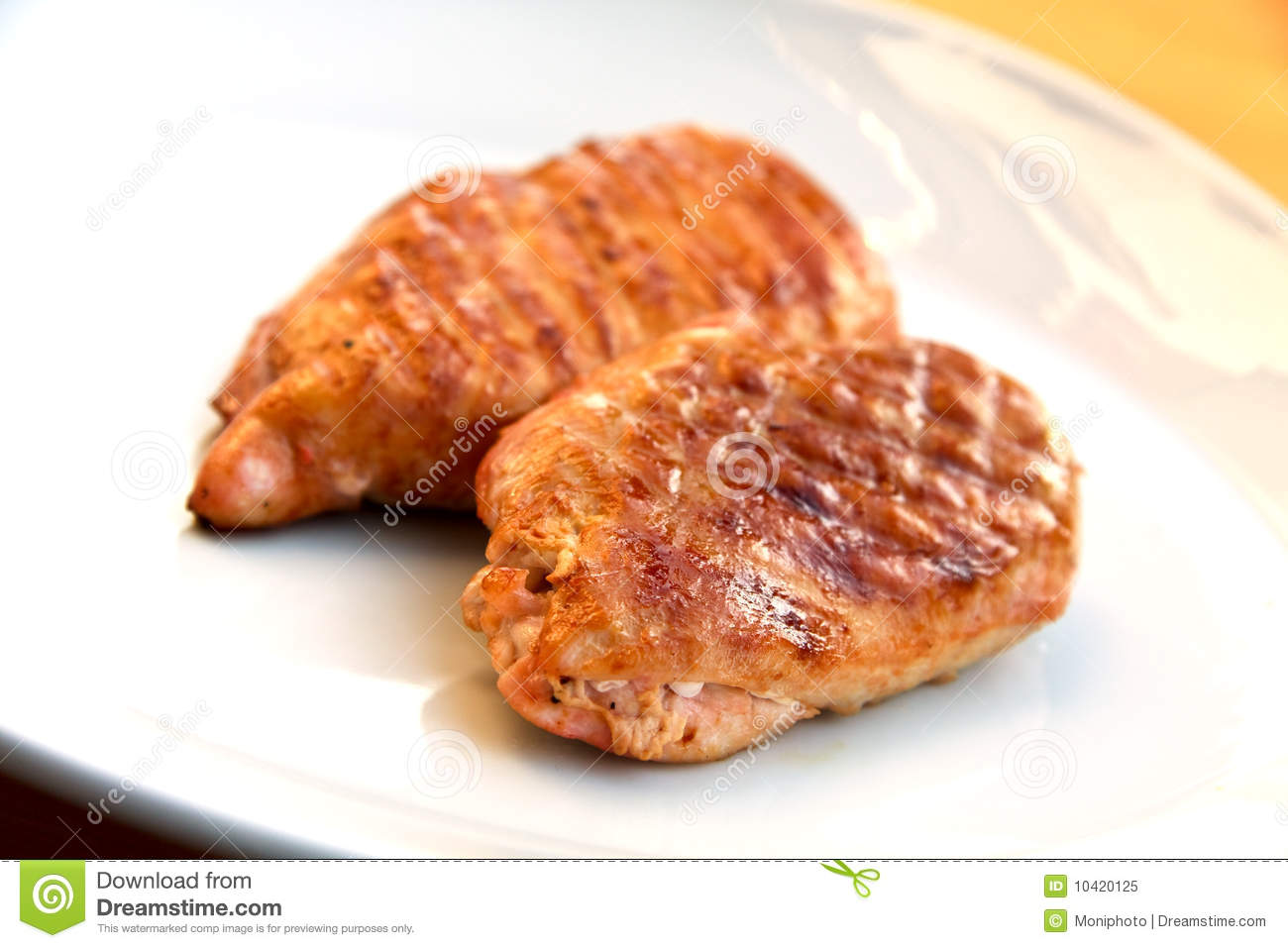 Grilled-roasted Schnitzel Of Turkey Meat Royalty Free Stock Photo ...