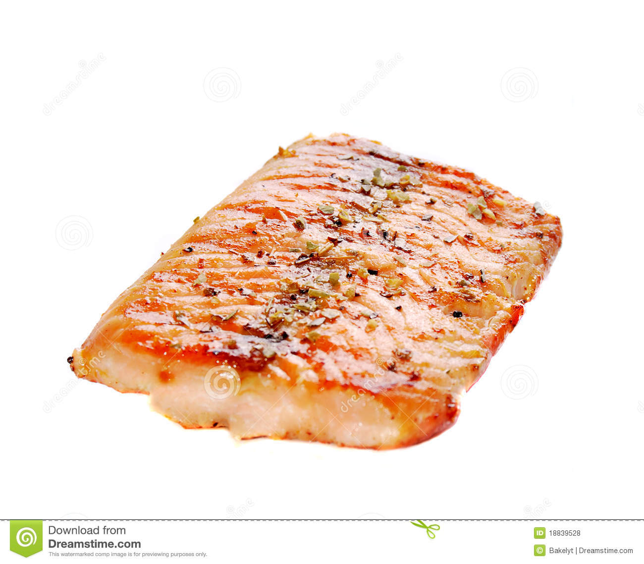 Grilled Salmon Royalty Free Stock Photos - Image: 18839528