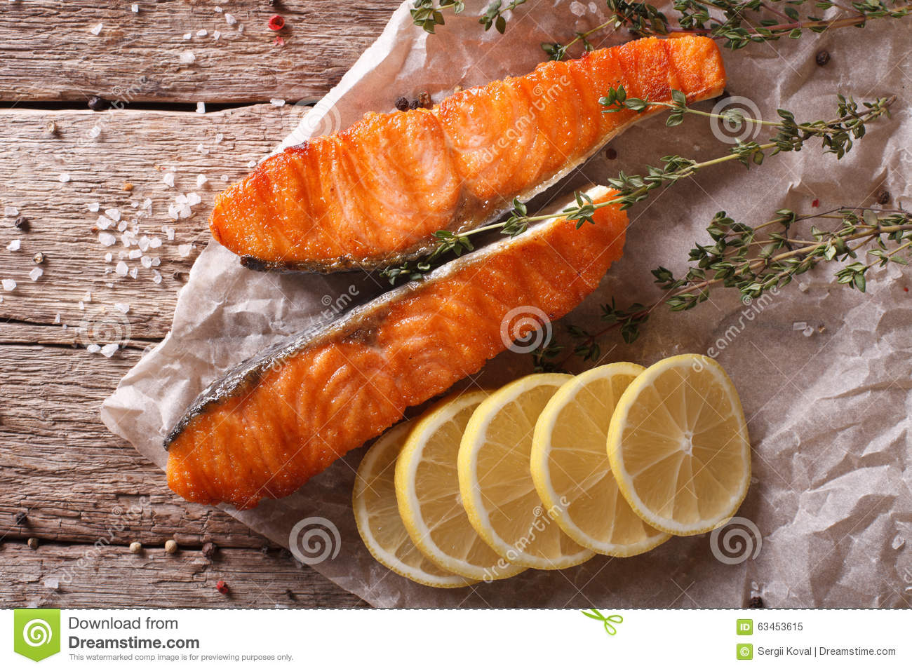 Broiled Salmon With Rosemary Recipes — Dishmaps