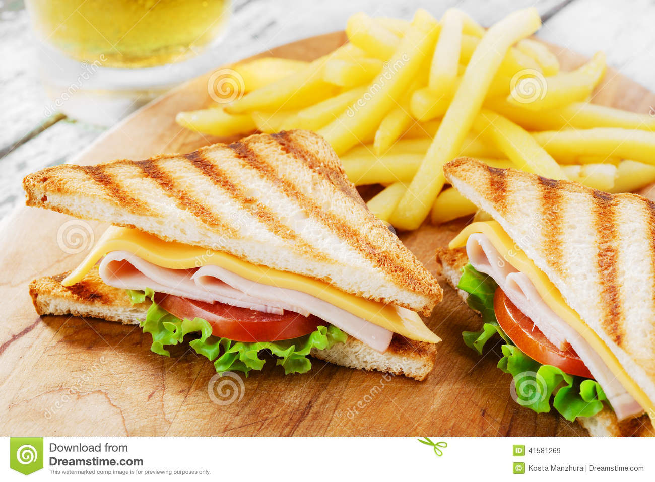 More similar stock images of ` Grilled sandwich with ham cheese `
