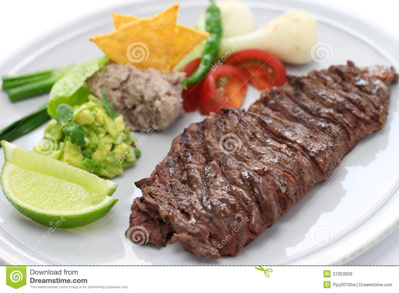 Grilled Skirt Steak, Mexican Cuisine Royalty Free Stock Images - Image ...