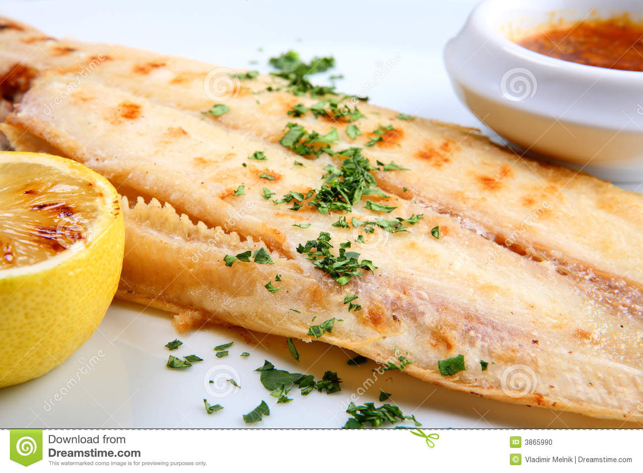 Grilled sole fish stock photo image of appetizing plate for Sole fish nutrition