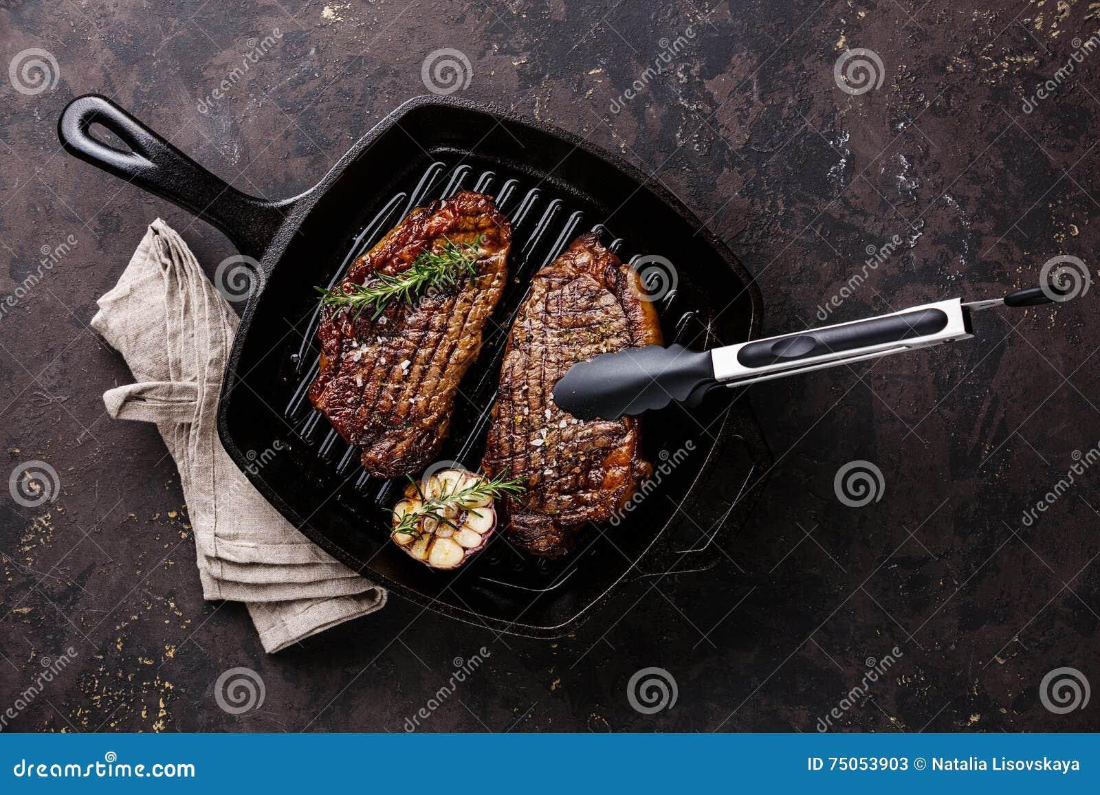 how to cook rib eye steak in a frying pan