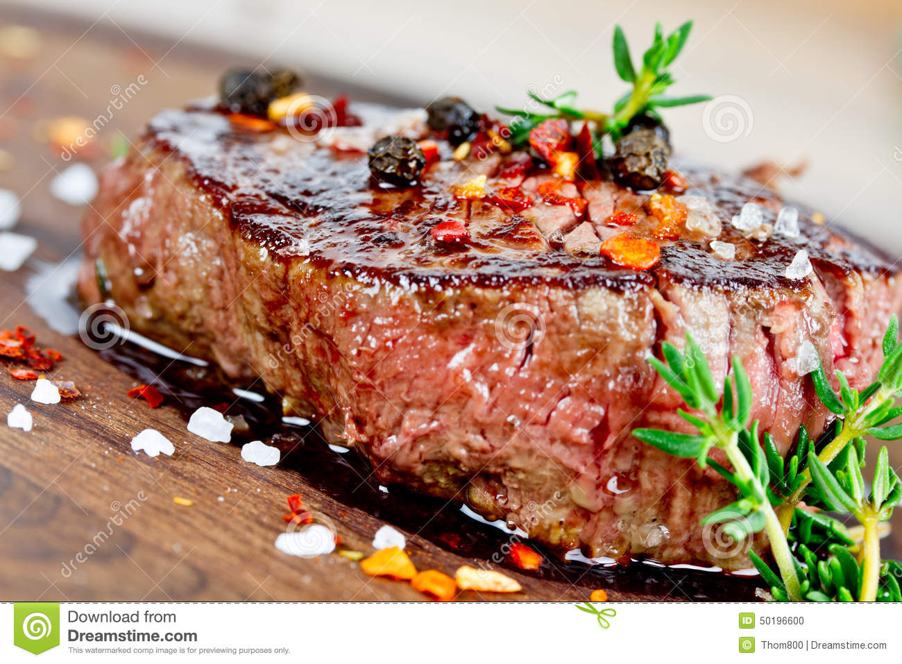 Grilled Steak Stock Photo - Image: 50196600