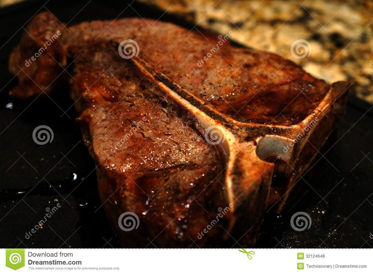 Grilled T-Bone Steak Royalty Free Stock Photos - Image: 32124648