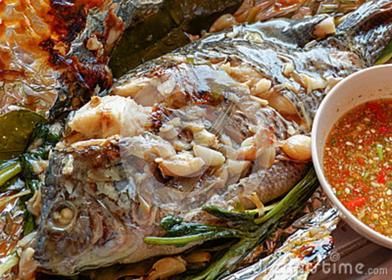 Grilled Tilapia Fish Floyd Stock Photo Image Of Dinner