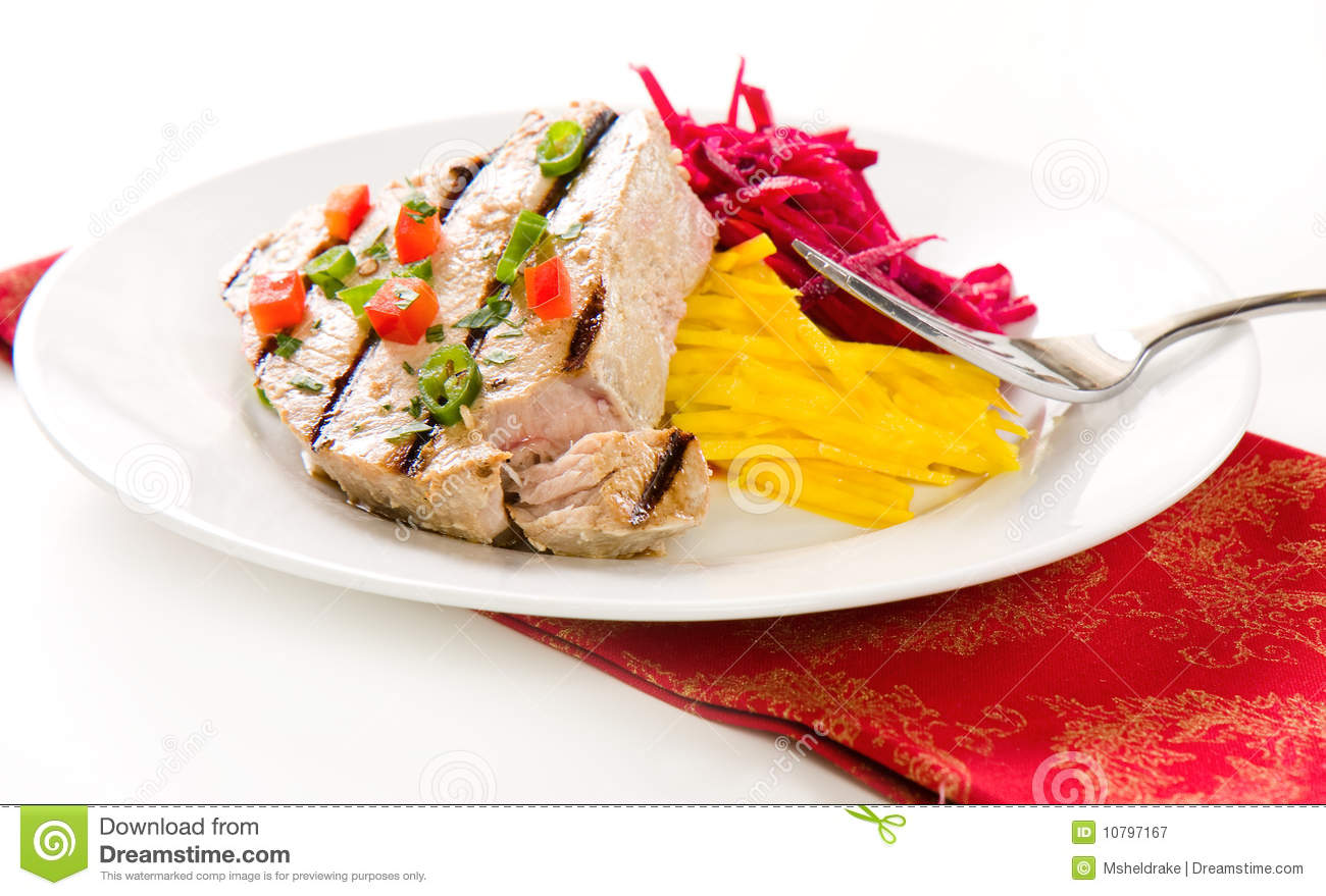 Grilled Tuna Steak Royalty Free Stock Photography - Image: 10797167