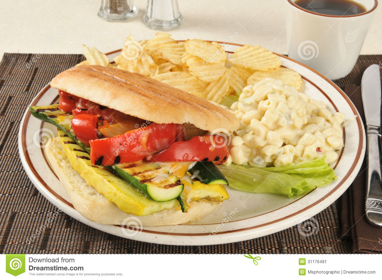 Grilled Vegetable Panini Stock Image - Image: 31176491