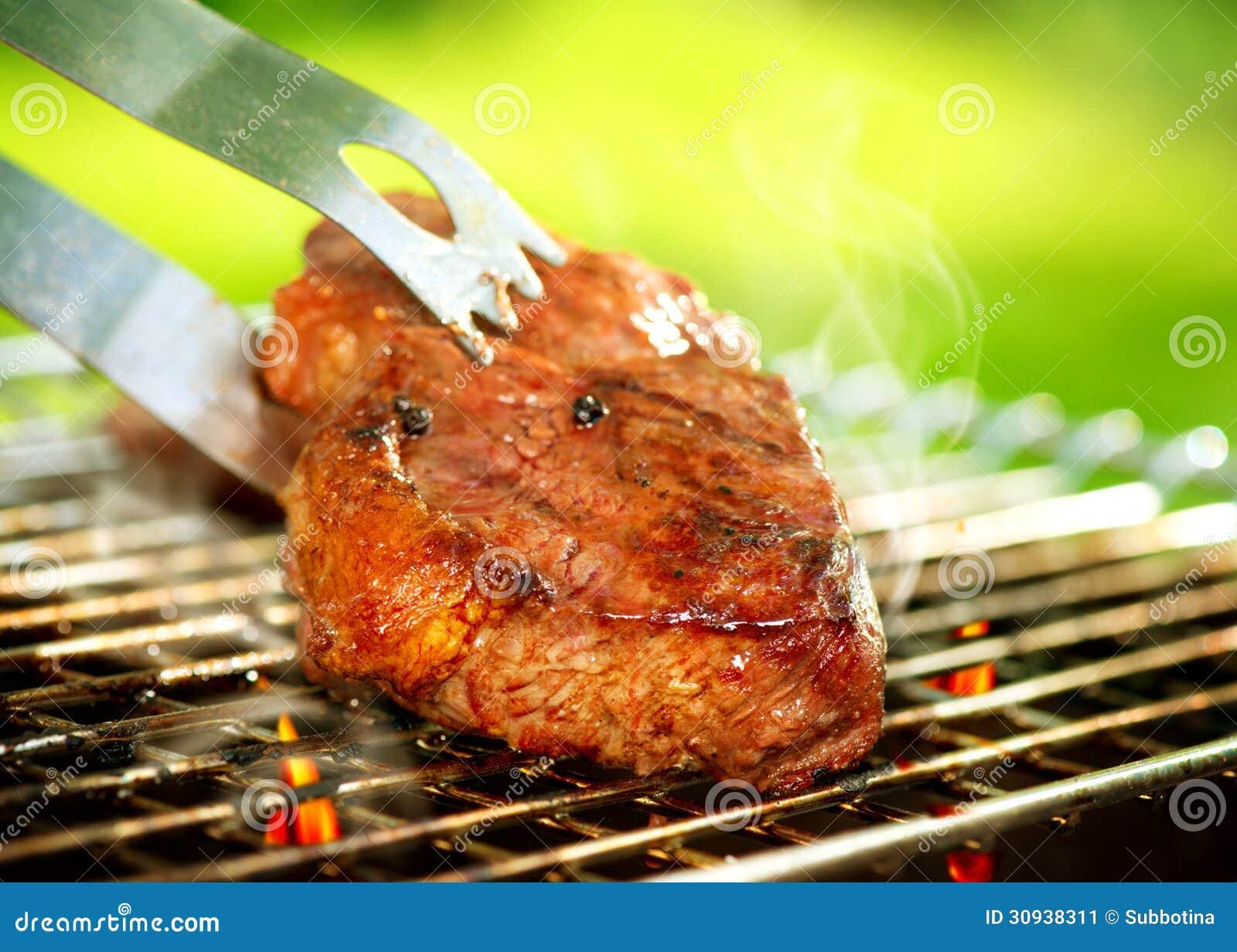 Grillfest för gallernötköttbiff