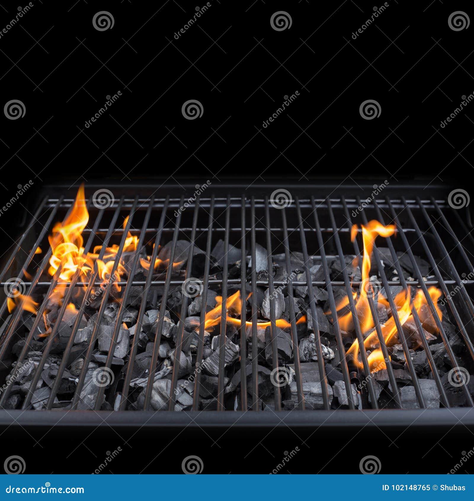 Grillfestgallerspisgaller BBQ Brand, Kol Fotografering för
