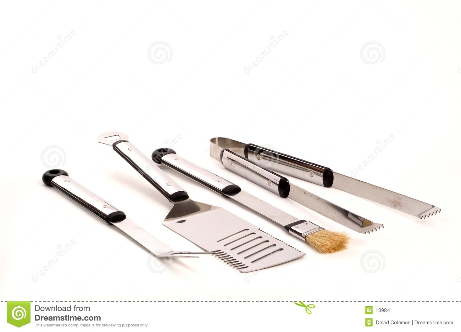 Download Grillfesthjälpmedel arkivfoto. Bild av cookout, gaffel, handtag - 10984