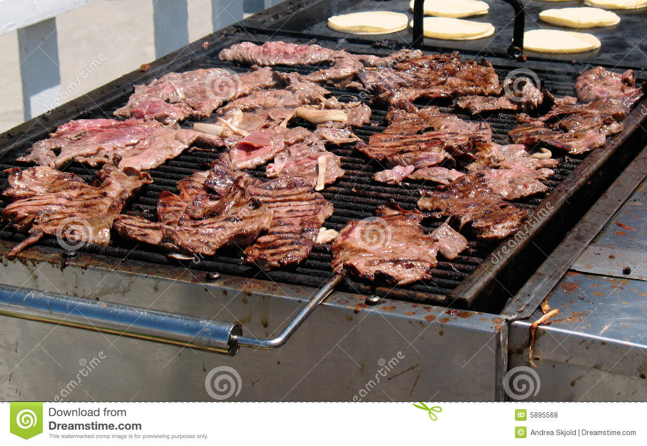 Grilling Carne Asada Royalty Free Stock Photos - Image: 5895568