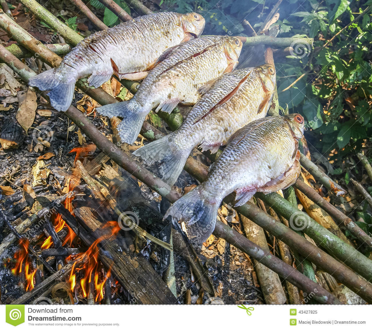 how to cook a fish on fire