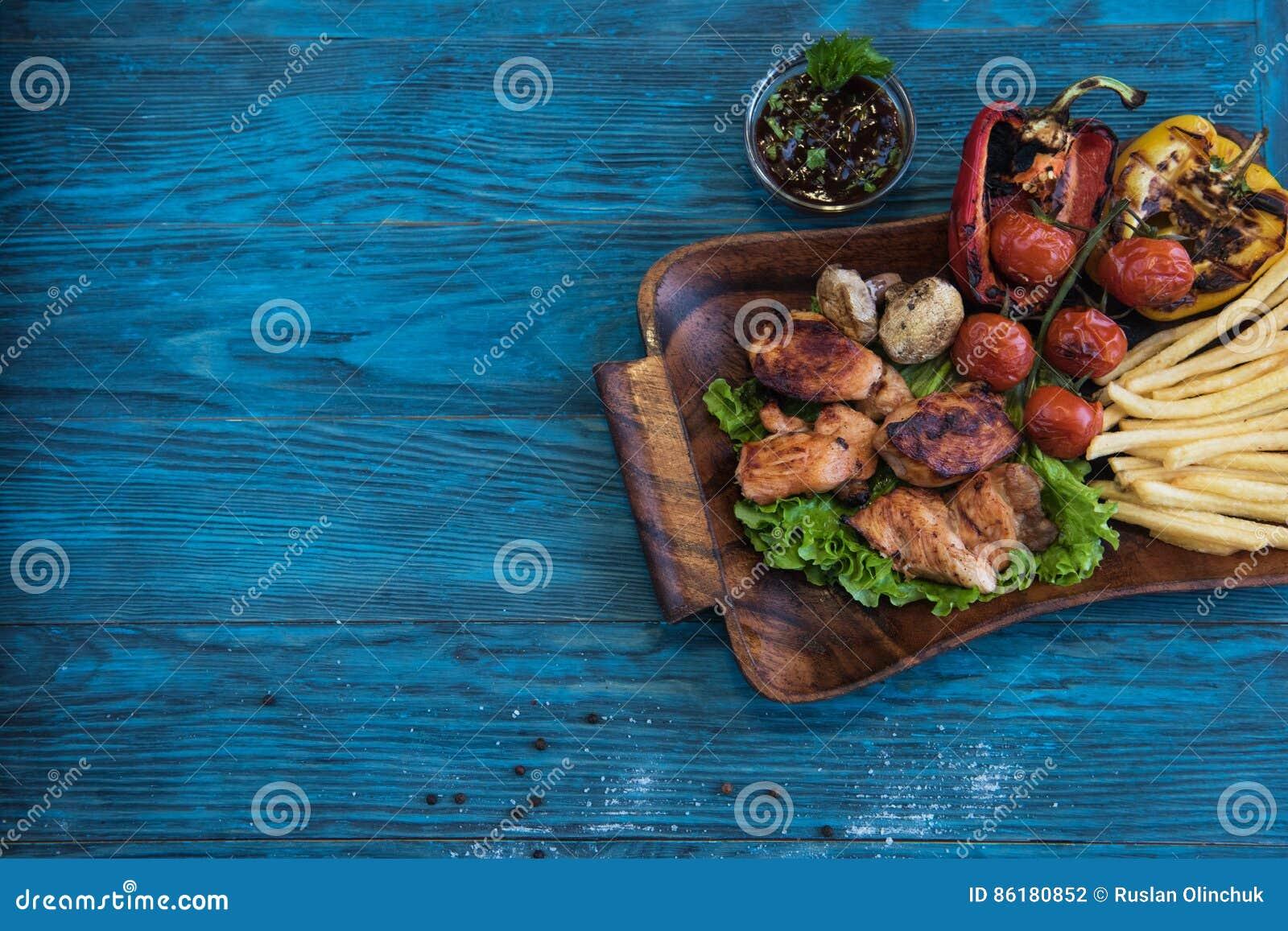 Grillowany świńskiego mięsa