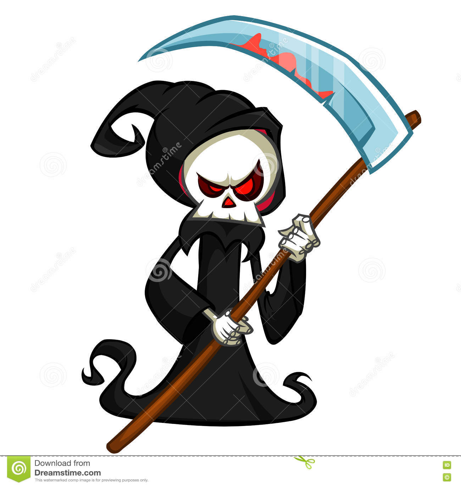 Black Hood Cartoon Characters : Cute cartoon death vector cartoondealer
