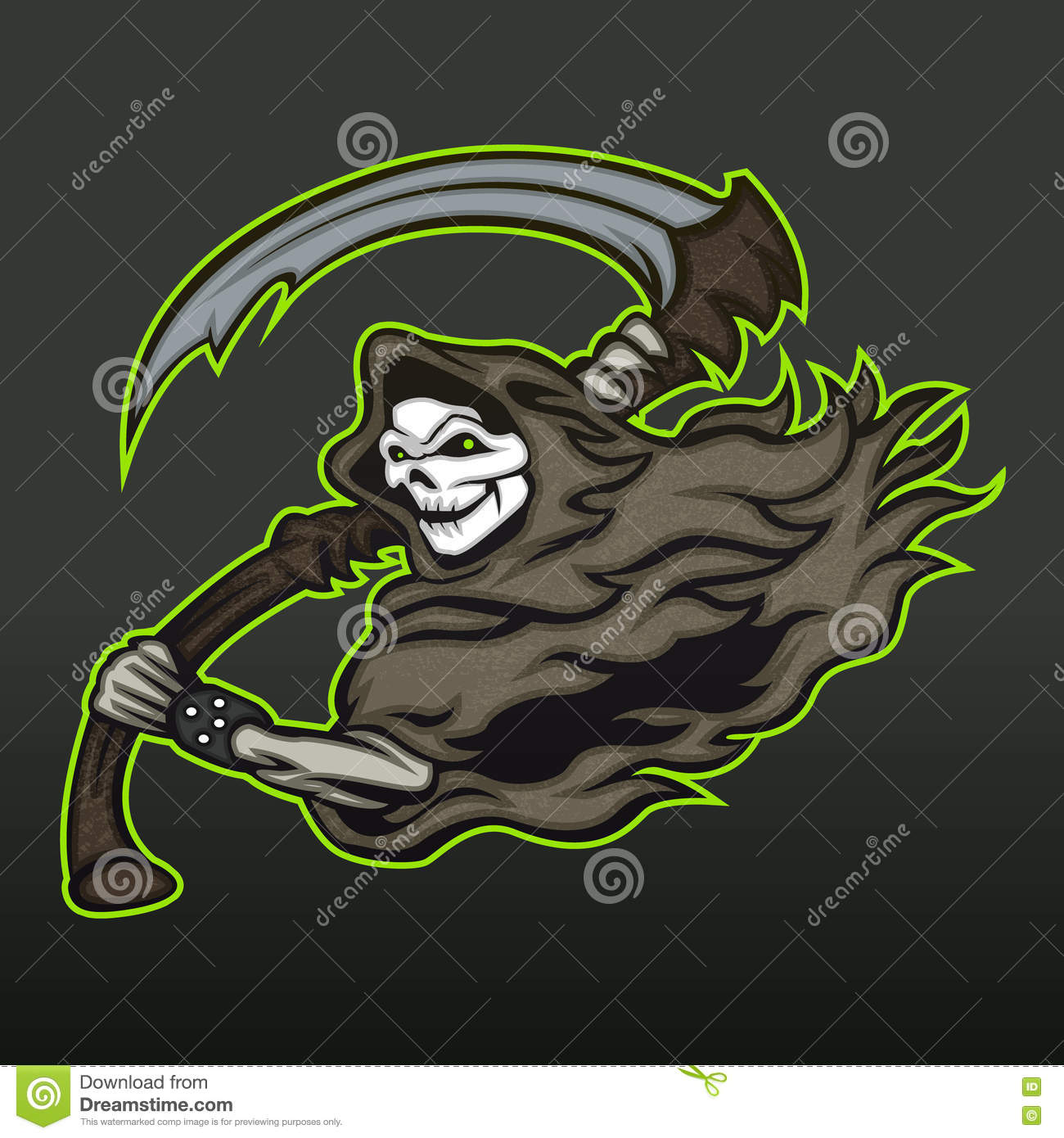 Grim Reaper Stock Vector Illustration Of Horror Devil 71681708