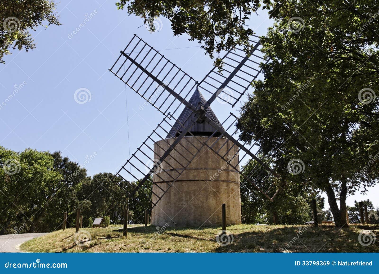 Grimaud, 17th century Saint Roch s windmill, Provence, France