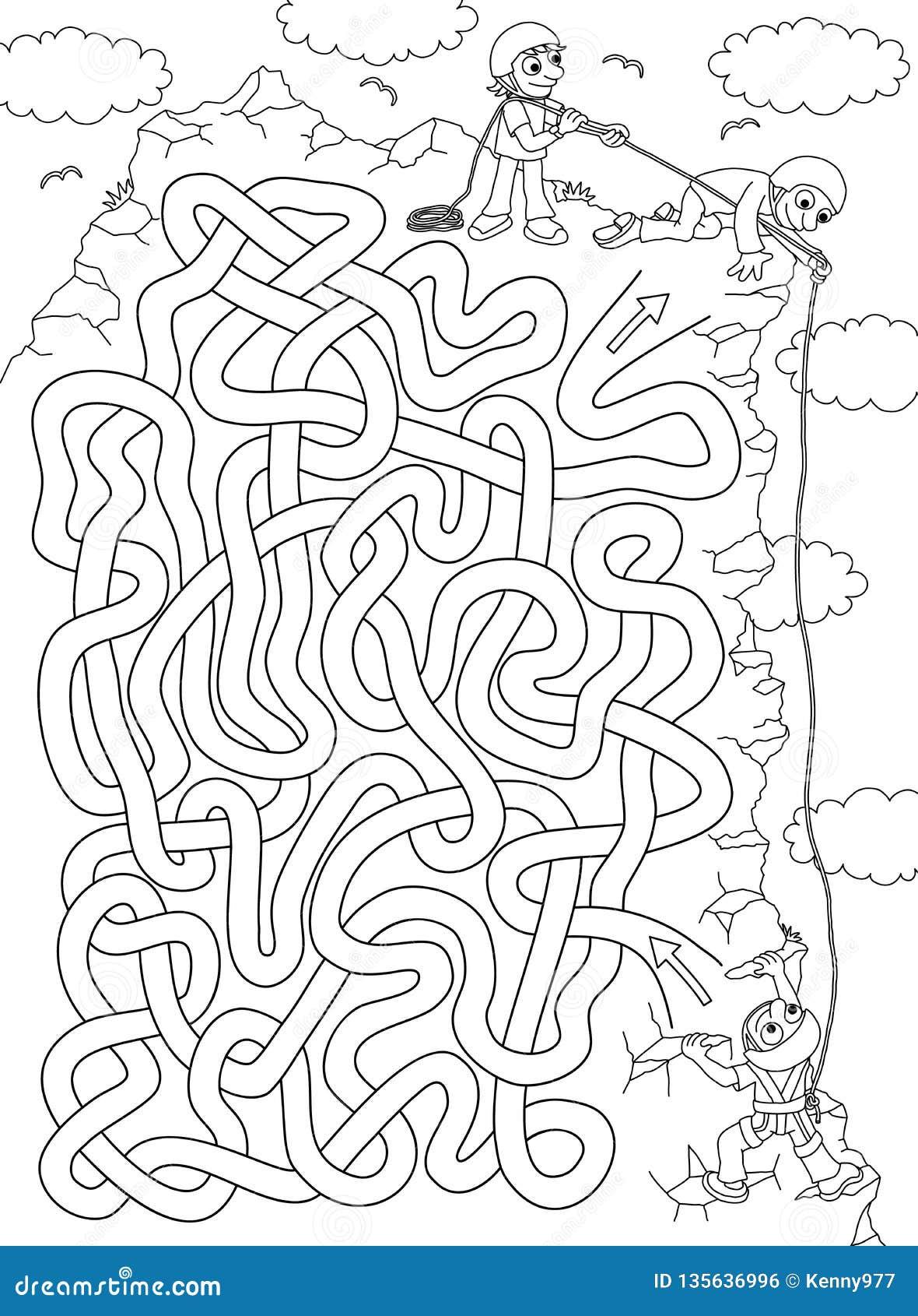 Grimpeur - labyrinthe pour des enfants