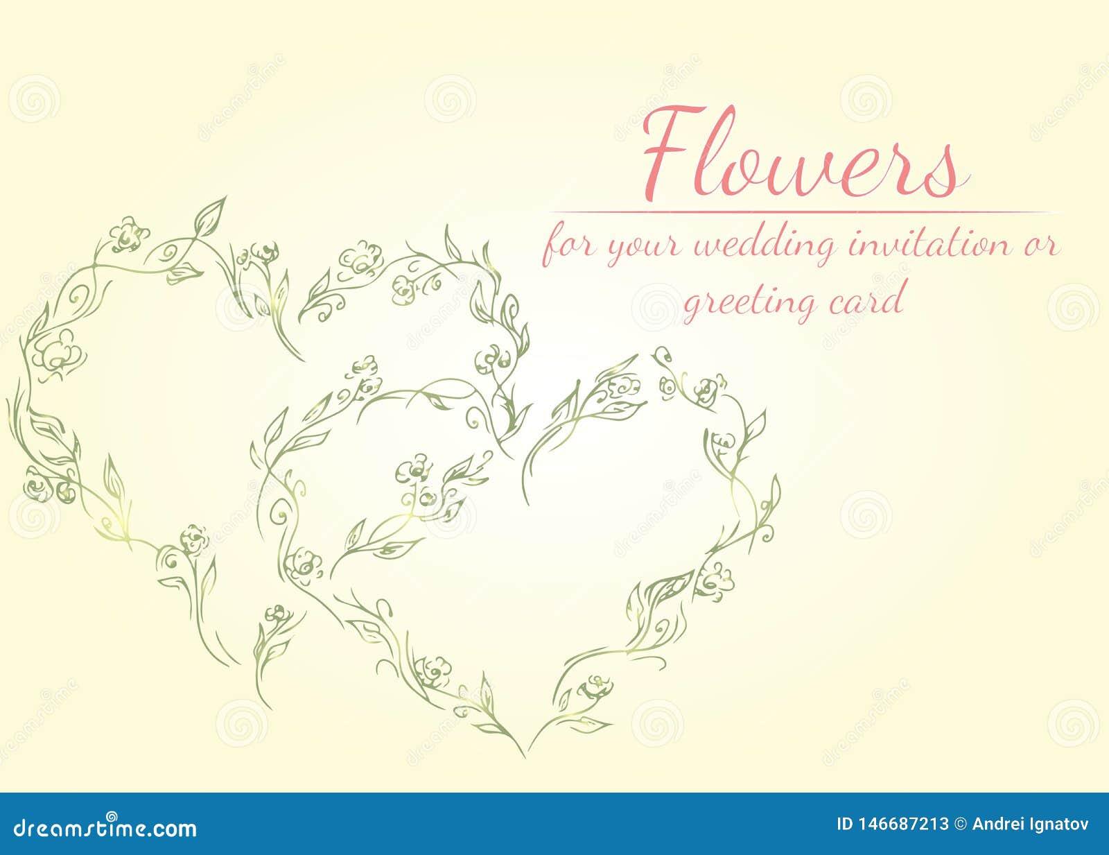 Grinalda de flores das peônias no formulário do coração com a vida coral, cores verdes, prudentes, brancas do néctar elementos fl