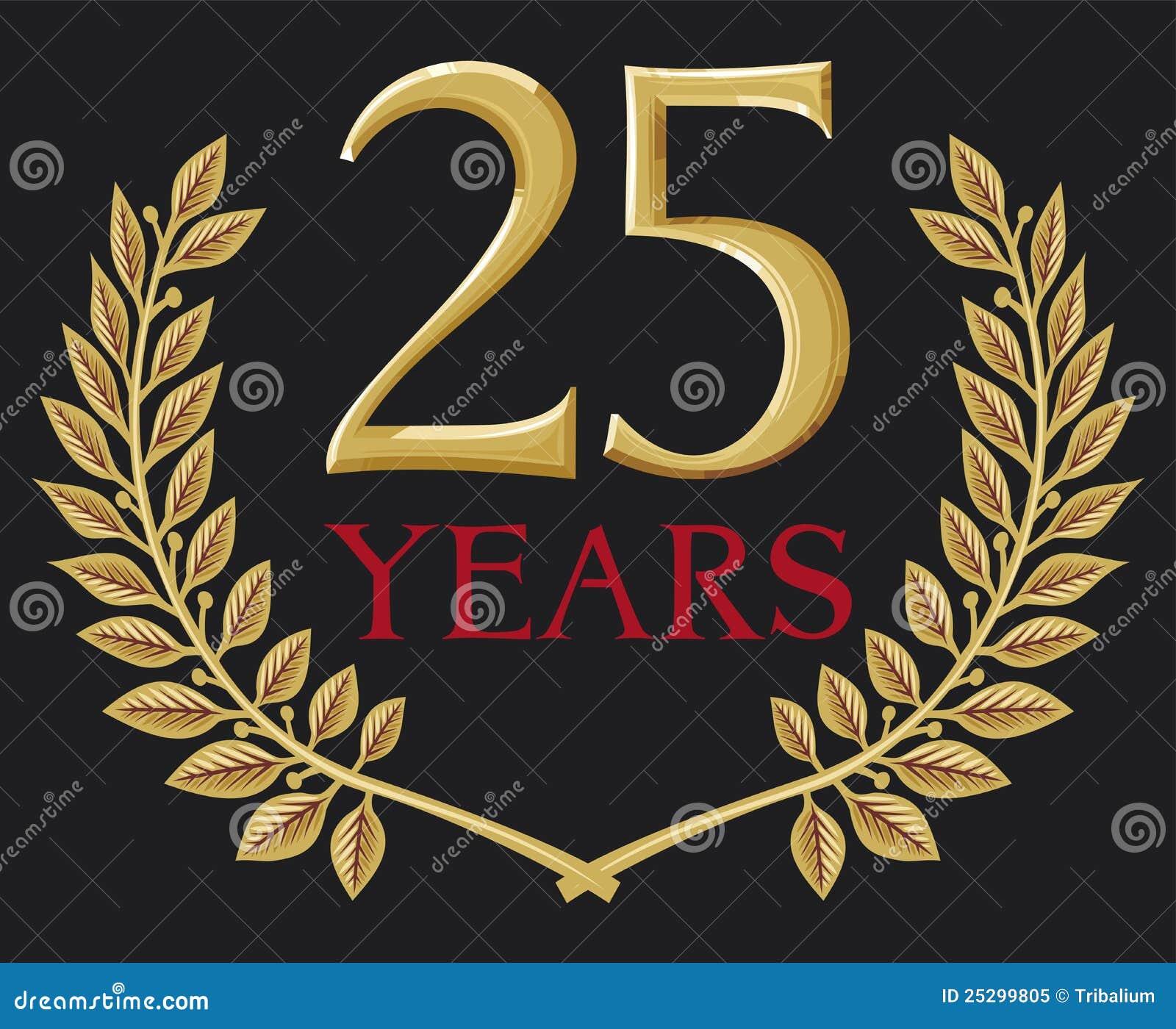 Grinalda Dourada Do Louro 25 Anos Ilustra 231 227 O Do Vetor