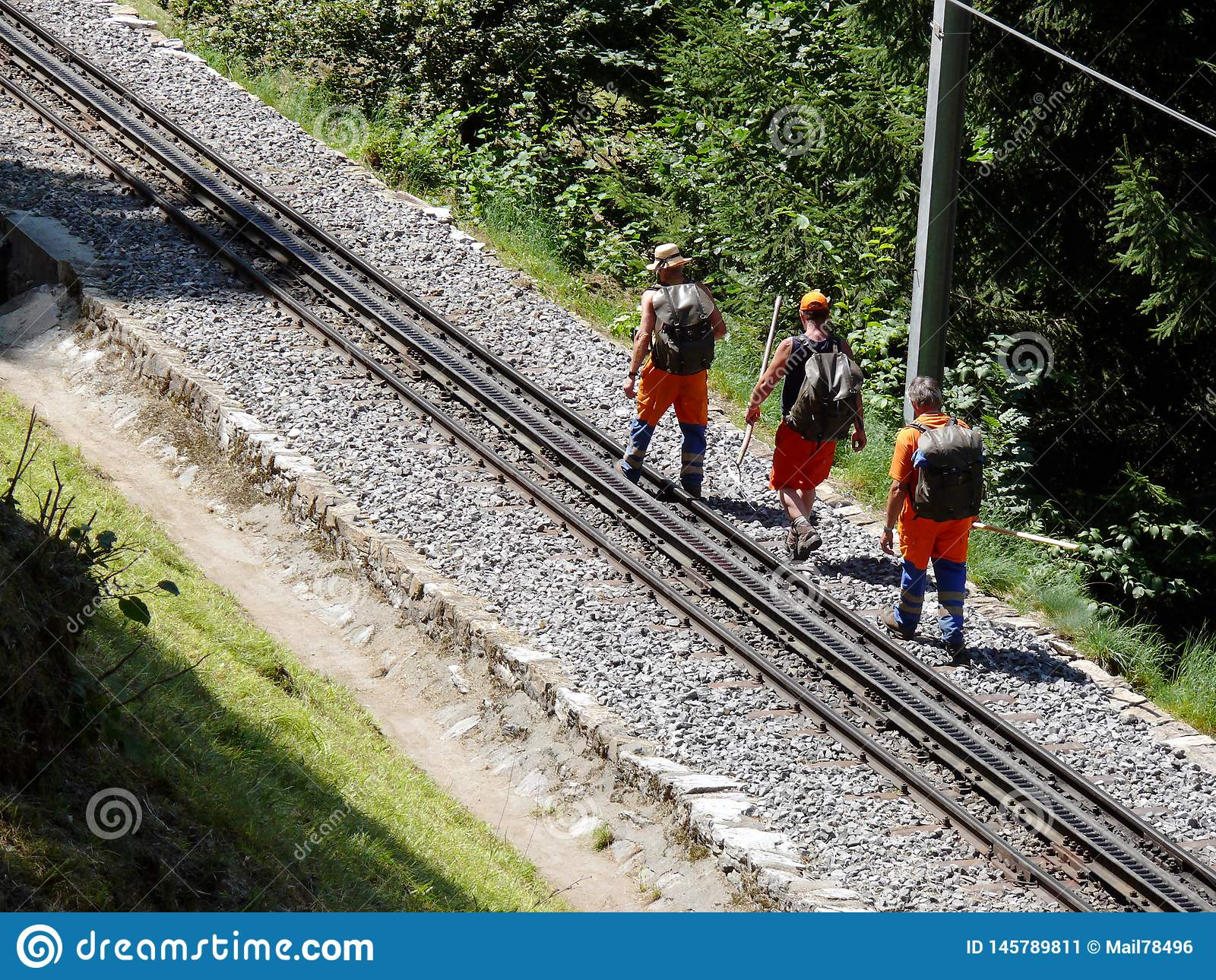 Grindelwald, Suisse 08/07/2009 Travailleurs commandant le Ra