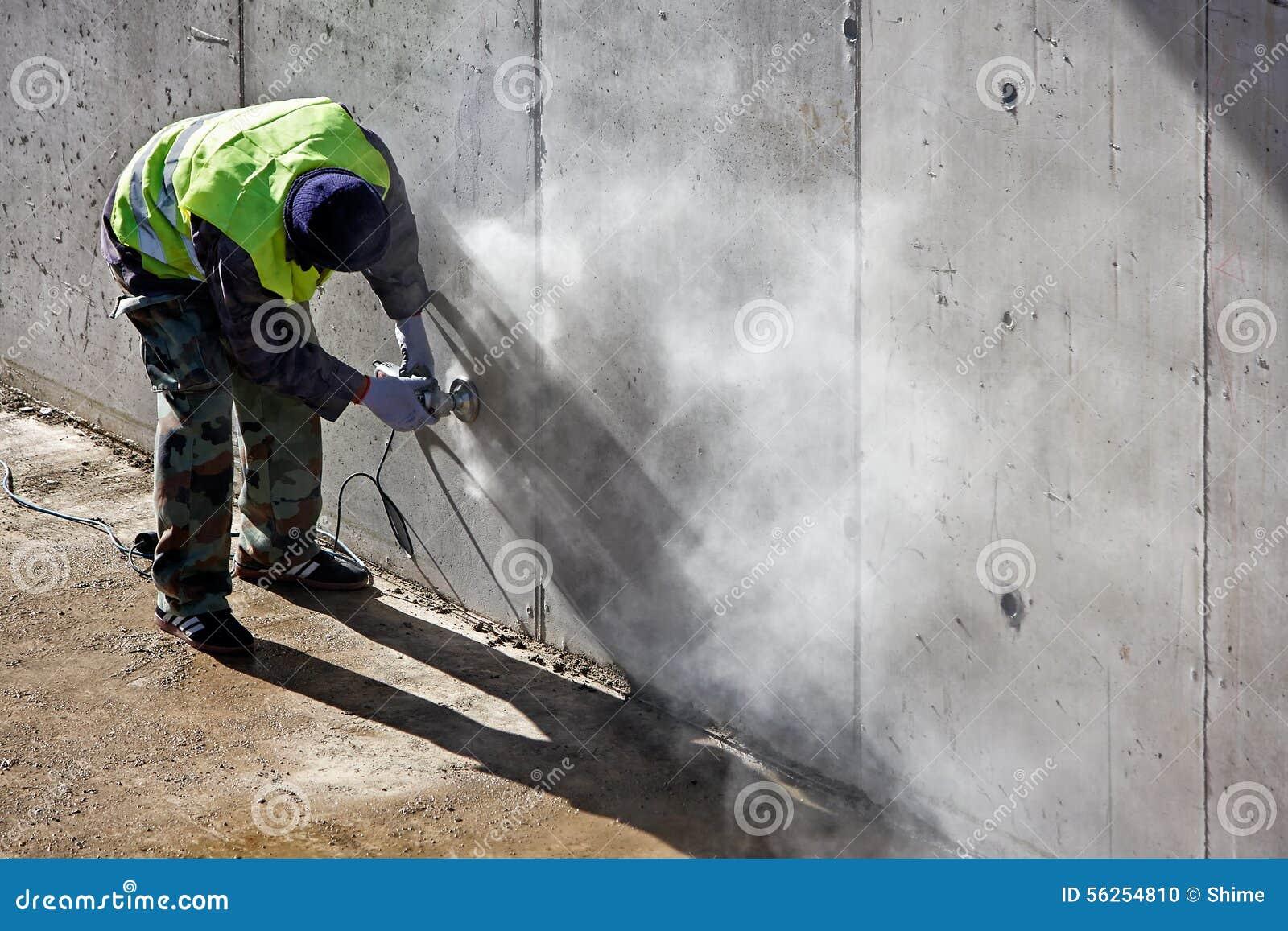 Grinding Concrete Stock Photo - Image: 56254810