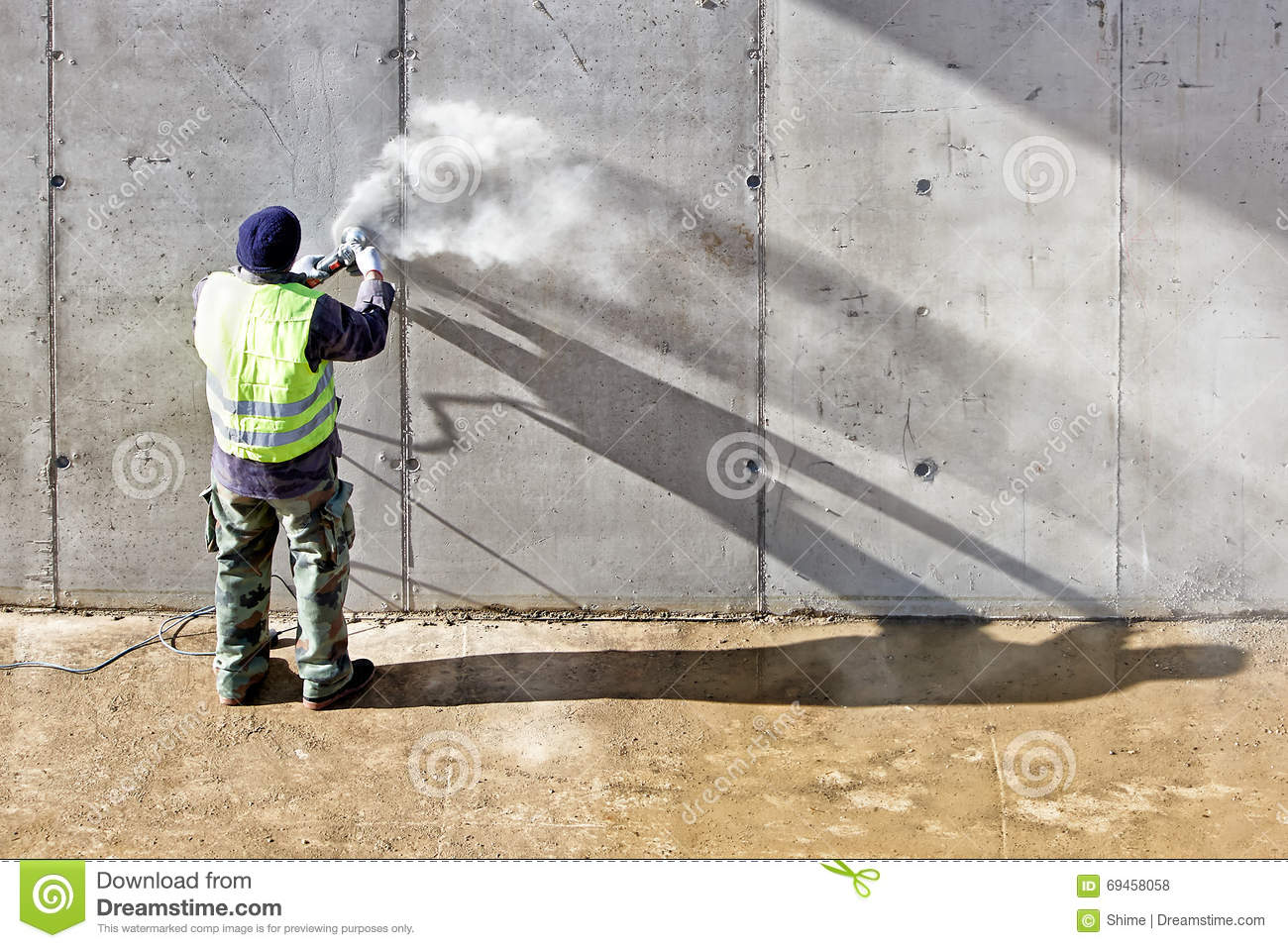 Grinding Wall Stock Photo Image Of Grinding Construction