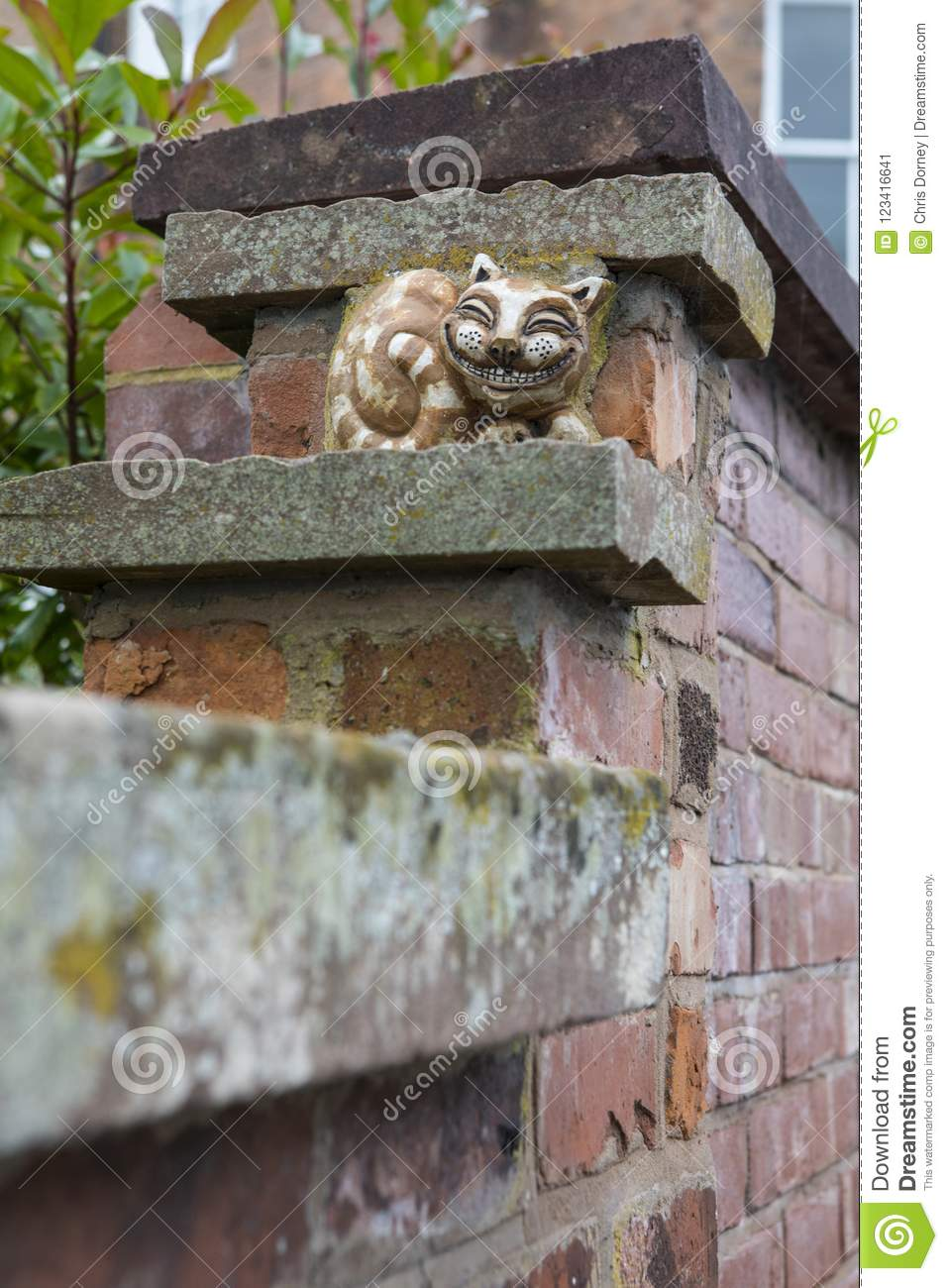 Grinning Cheshire Cat in Chester