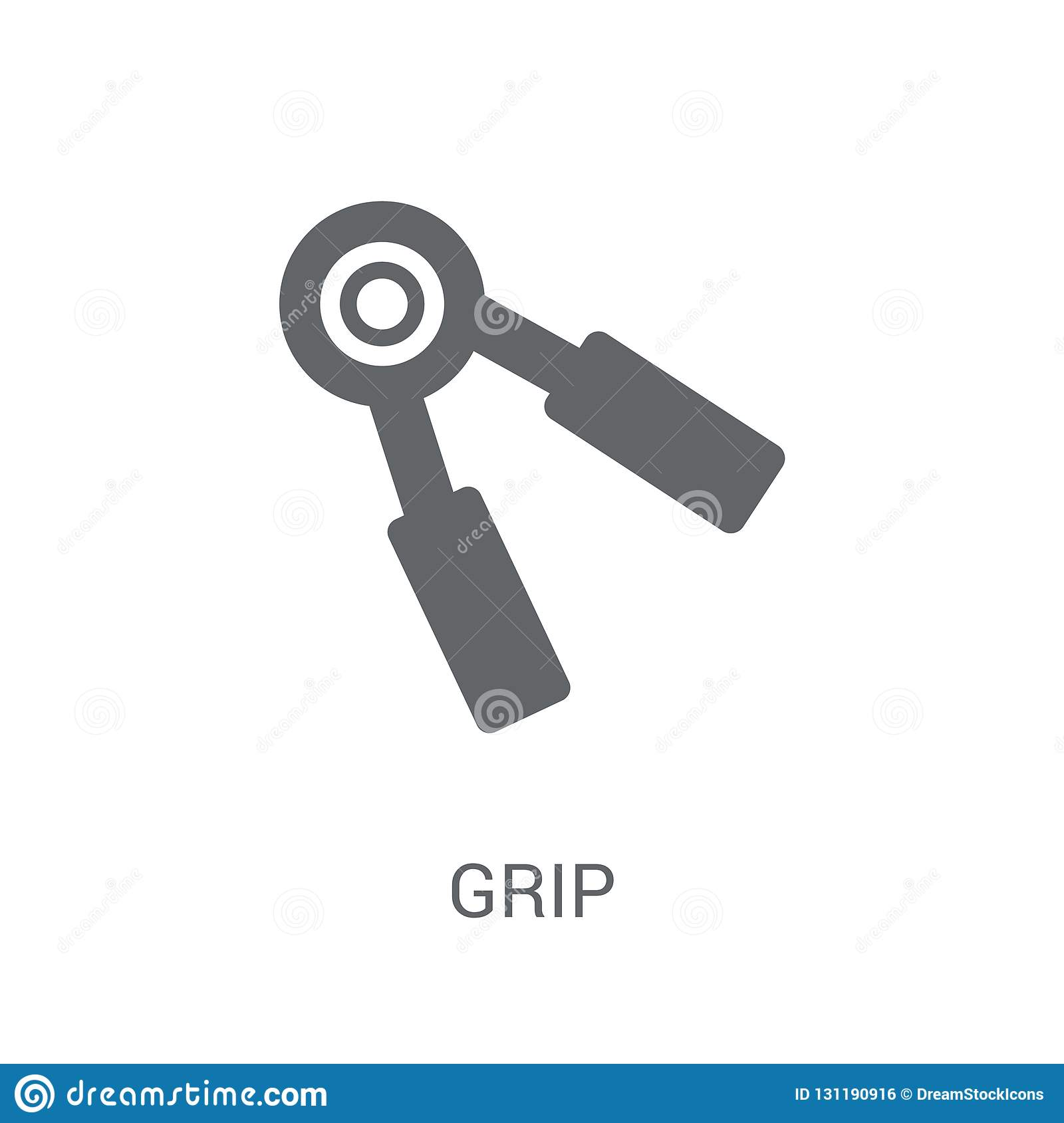 Grip icon. Trendy Grip logo concept on white background from Gym