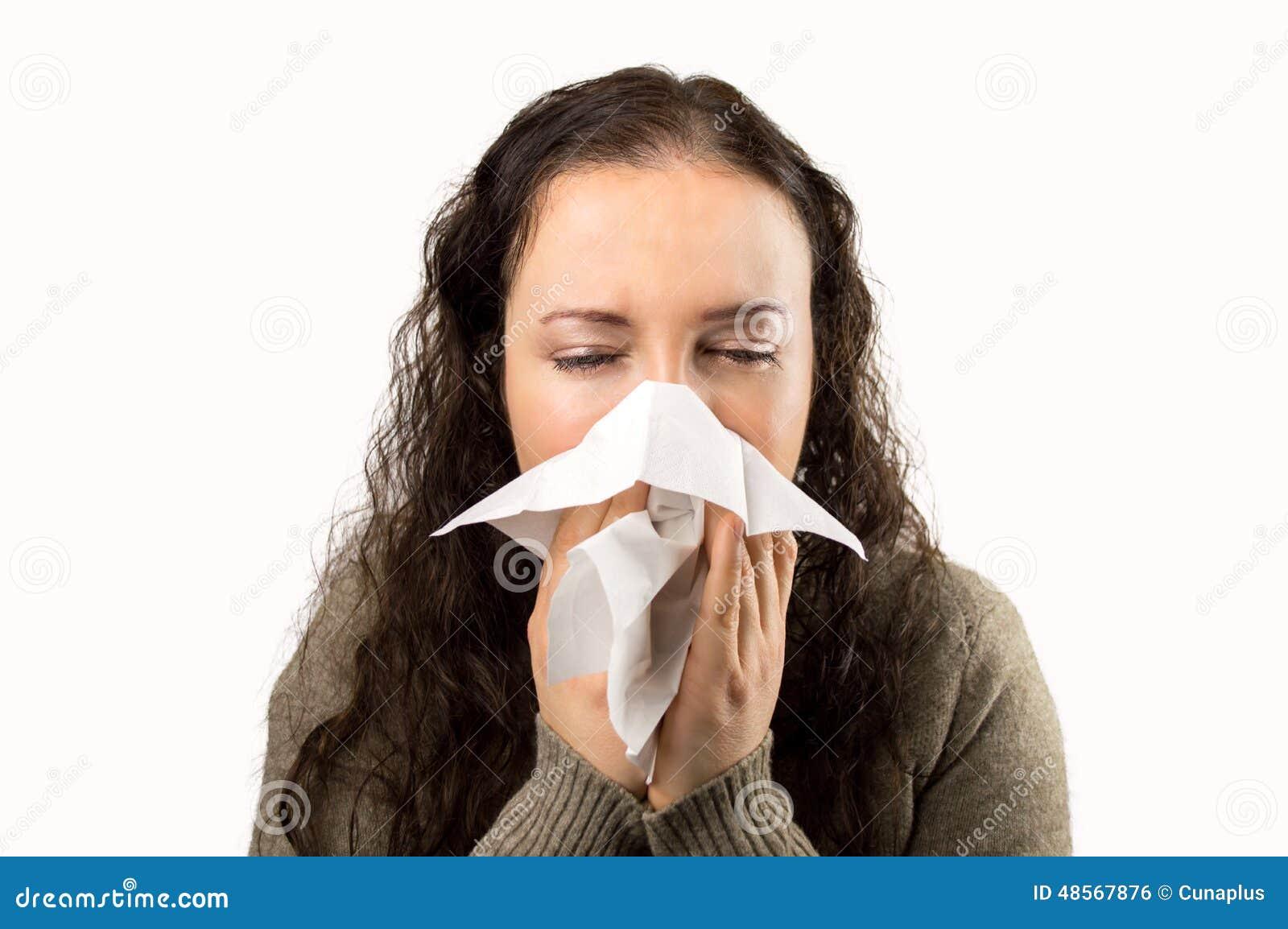 Gripe e espirrar