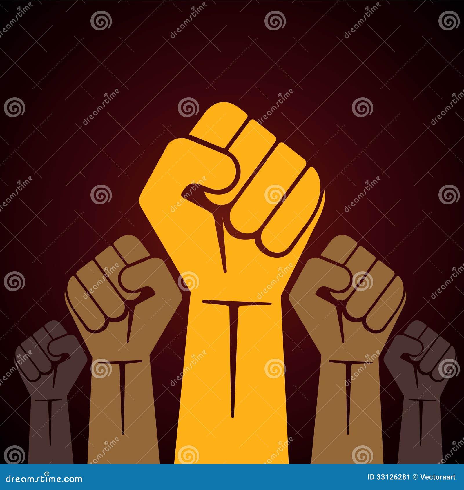 Gripen hårt om näve som rymms i protestillustration