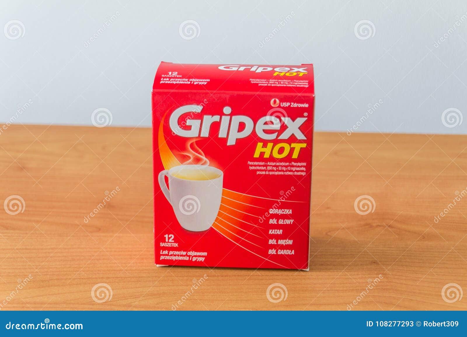 Gripex Gorący używać grypa lub febra jest medyczny