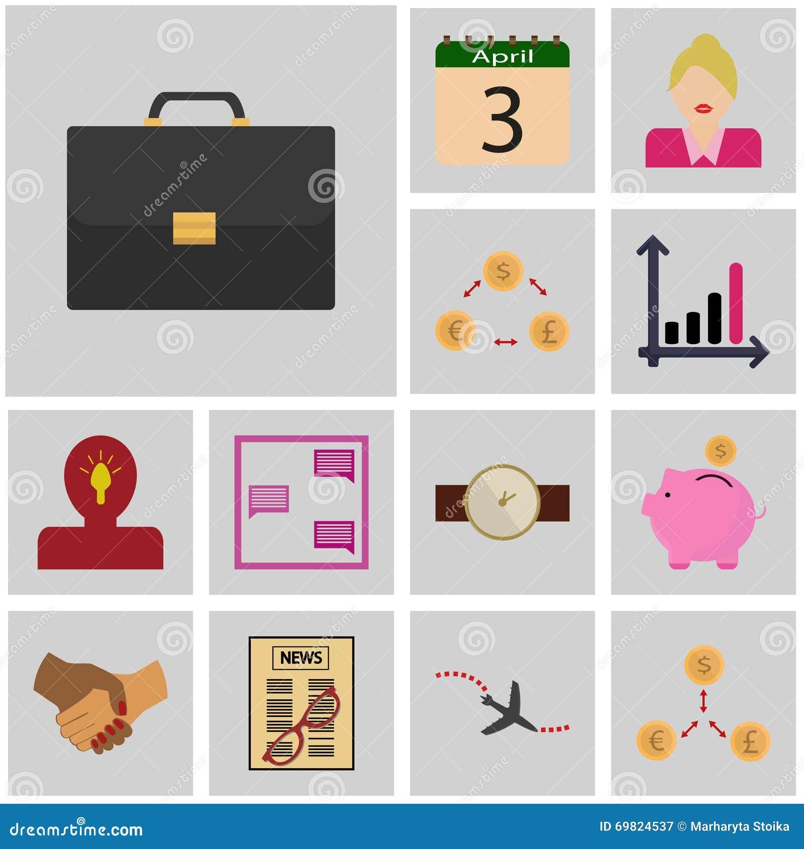 Gris de los iconos, cuadrado/caso determinado del icono de los ingresos del icono, maleta,