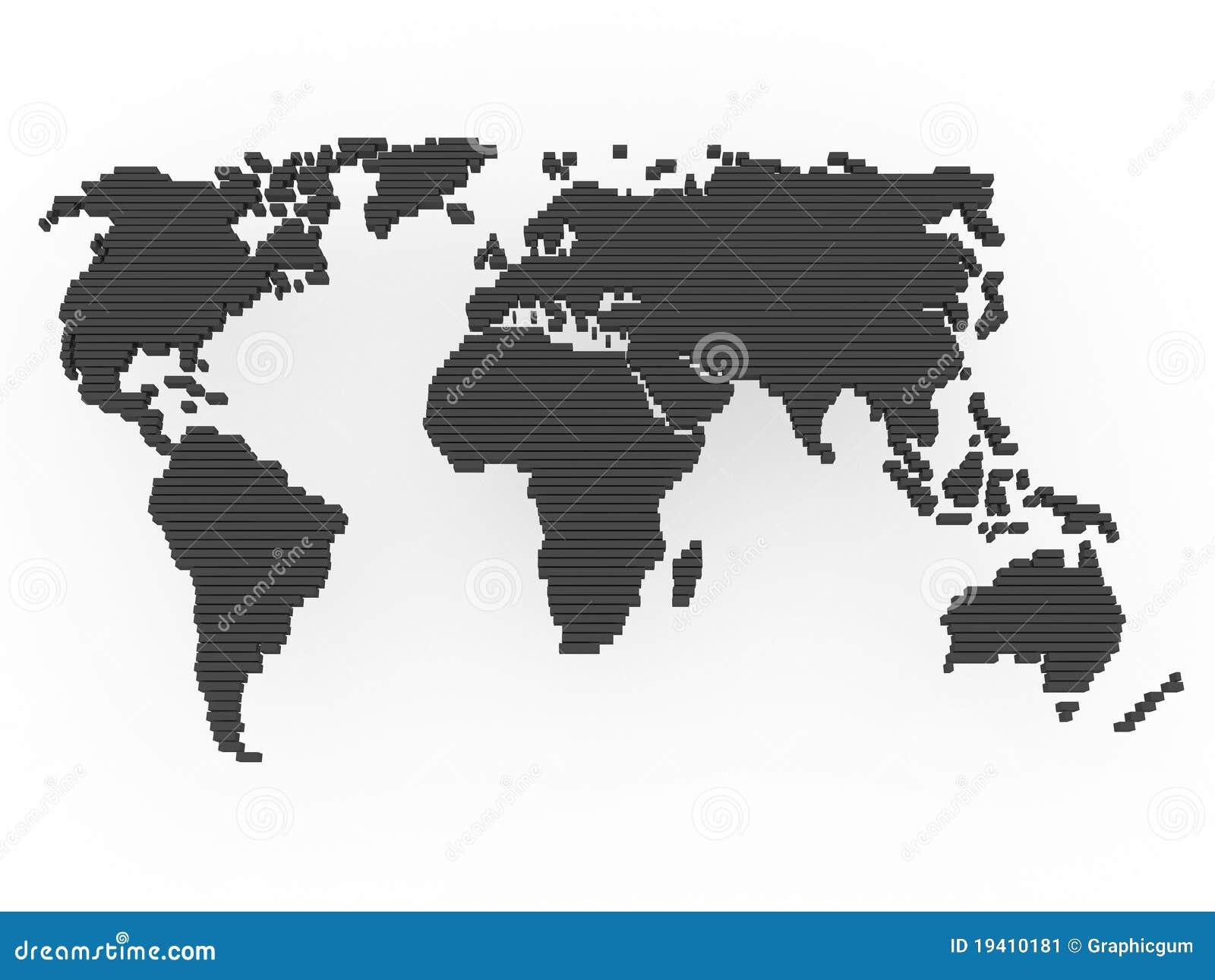 gris de noir de carte du monde illustration stock illustration du dessin abstrait 19410181. Black Bedroom Furniture Sets. Home Design Ideas