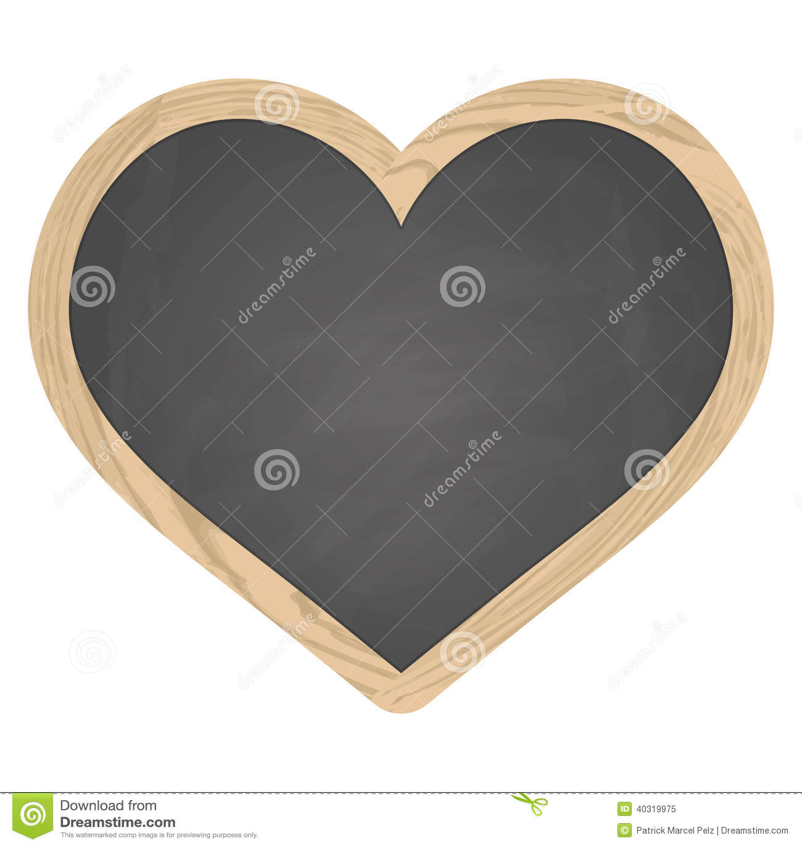 gris de tableau noir d 39 ardoise de coeur avec le cadre en bois illustration de vecteur image. Black Bedroom Furniture Sets. Home Design Ideas