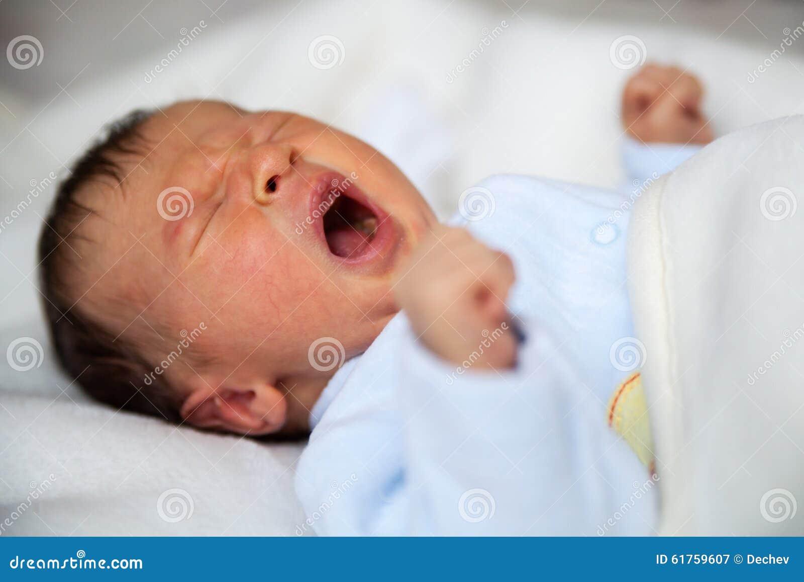 Griterío recién nacido del bebé
