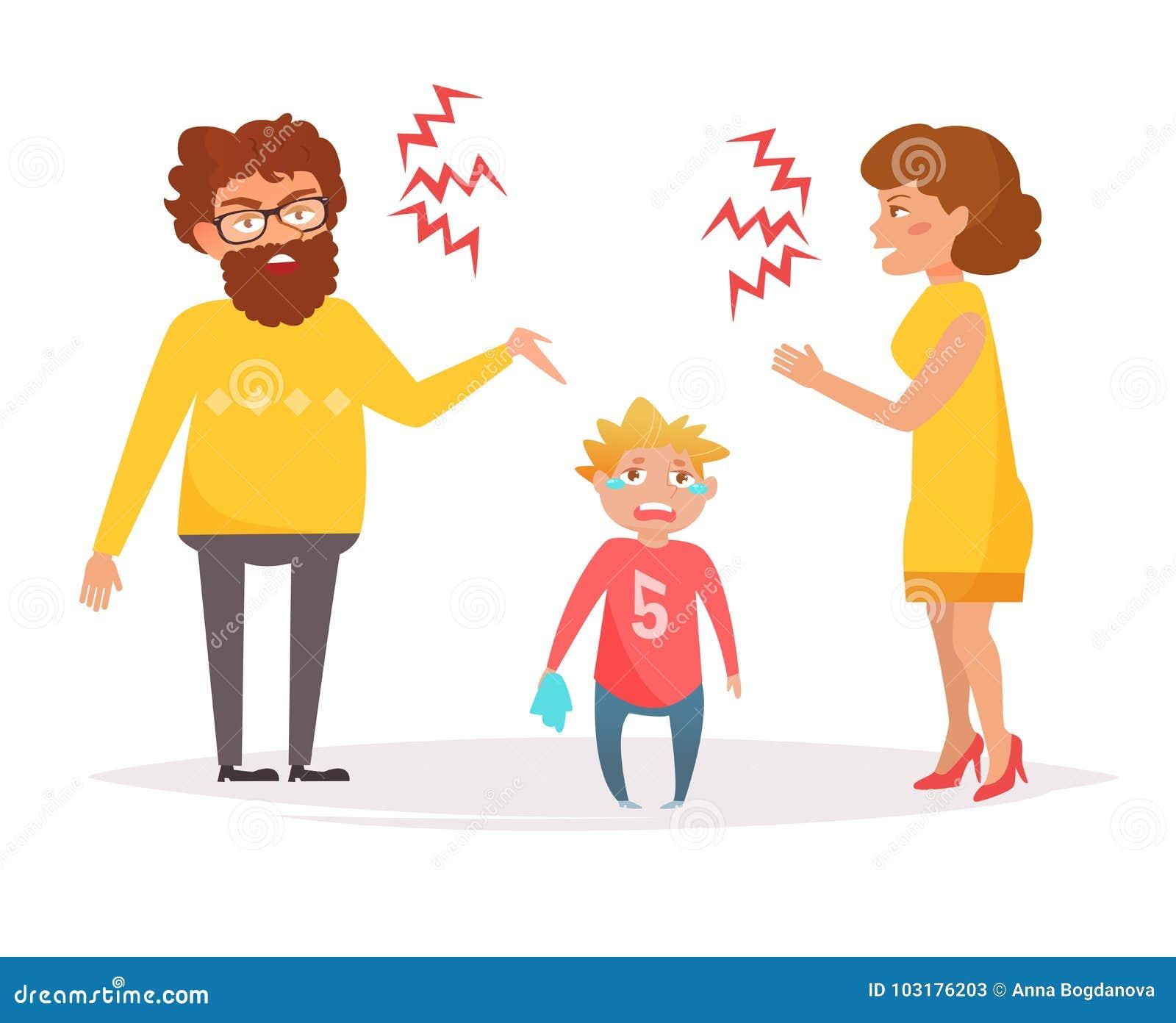 Grito de la madre y del padre en uno a