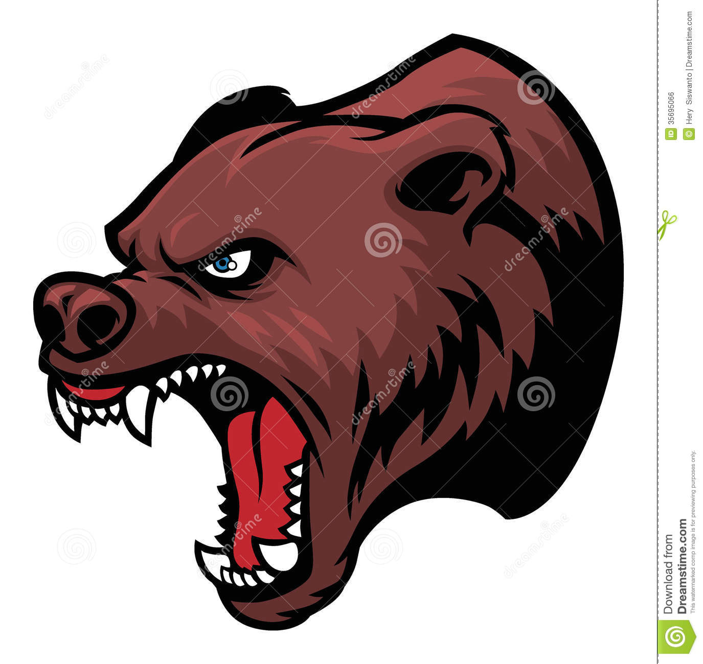 grizzly bear head royalty free stock image image 35695066